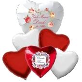 Bouquet 29 zum Muttertag, 6 Heliumballons