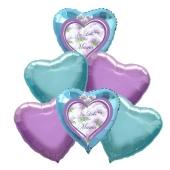 Bouquet 32 zum Muttertag, 6 Heliumballons