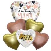 Bouquet 37 zum Muttertag, 6 Heliumballons