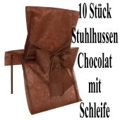 Stuhlhussen, Braun - Schokoladenfarbe, mit Schleife, 10 Stück