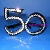 Party-Brille mit Strasssteinen zum 50. Geburtstag