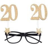 Party-Brille zum 20. Geburtstag, Gold Glitter