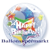Bubble Luftballon Twinkling Stars mit Helium