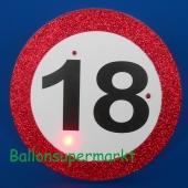Riesen-Button Geburtstag 18 mit LED Beleuchtung