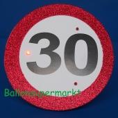 Riesen-Button Geburtstag 30 mit LED Beleuchtung