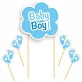 Cake Topper Baby Boy zur Babyparty eines Jungen