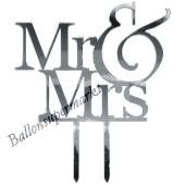 Spiegel Mr & Mrs, Dekoration Hochzeitstorte