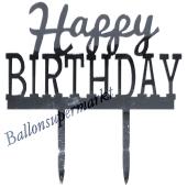Spiegel Cake Topper Happy Birthday, Tortendeko zum Geburtstag