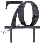 Spiegel Cake Topper Zahl 70, Tortendeko zum 70. Geburtstag