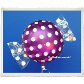 Candy Luftballon aus Folie mit Helium, Dots, Fruits Grape