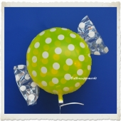 Candy Luftballon aus Folie mit Helium, Dots, Fruits Lemon