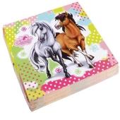 Pferde Servietten zum Kindergeburtstag Charming Horses