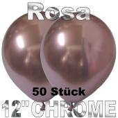 Luftballons in Chrome Rosa 30 cm, 50 Stück