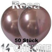 Luftballons in Chrome Rosa 35 cm, 50 Stück