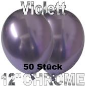 Luftballons in Chrome Violett 30 cm, 50 Stück