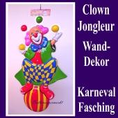 Clown Jongleur, Wanddekoration und Bühnendekoration zu Karneval und Fasching