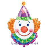 Luftballon Juggles Clown, Folienballon mit Ballongas