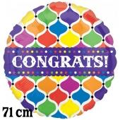 Congrats! Lanterns, riesiger Folienballon, ohne Helium- Ballongas