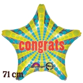 Congrats! Retro Star Jumbo Luftballon aus Folie