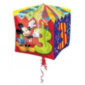 Cubez Luftballon aus Folie Mickey Mouse zum 3. Geburtstag