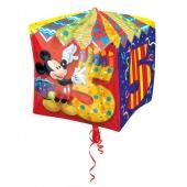 Cubez Luftballon aus Folie Mickey Mouse zum 5. Geburtstag