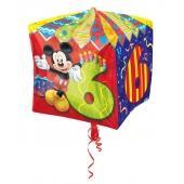 Cubez Luftballon aus Folie Mickey Mouse zum 6. Geburtstag