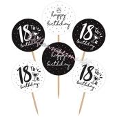 Cupcake Topper Zahl 18, Dekoration zum Geburtstag