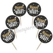 Cupcake Topper Zahl Happy New Year, Dekoration zu Silvester