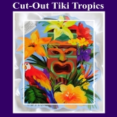 Cut Out Tiki Tropics Hawaii-Partydekoration