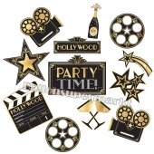 Cutouts mit Hollywood Motiven, Glitz & Glam