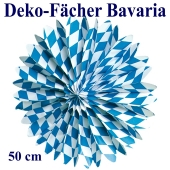 Deko-Fächer Bavaria, 50 cm, Oktoberfest Rosettendekoration