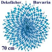 Deko-Fächer Bavaria, 70 cm, Oktoberfest Rosettendekoration