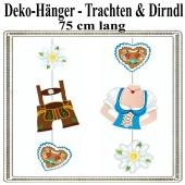 Deko-Hänger Oktoberfest, Trachten und Dirndl, 2 Stück