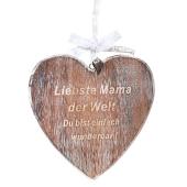 """Deko-Herz aus Holz """"Liebste Mama der Welt"""" zum Muttertag"""