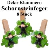 Silvester Tischdekoration Glücksbringer, Schornsteinfeger Deko-Klammern