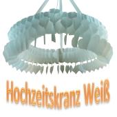 Deko-Kranz Hochzeit, Hochzeitskranz Weiß