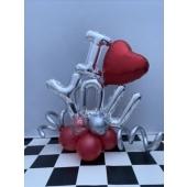 Deko Love-Silber-Rot
