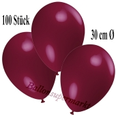 Deko-Luftballons Bordeaux, 100 Stück