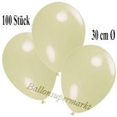Deko-Luftballons Elfenbein, 100 Stück