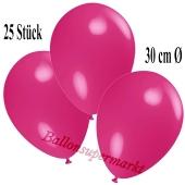 Deko-Luftballons Fuchsia, 25 Stück