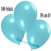 Deko-Luftballons Hellblau, 100 Stück