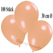 Deko-Luftballons Lachs, 100 Stück