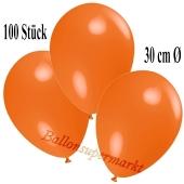 Deko-Luftballons Orange, 100 Stück
