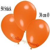 Deko-Luftballons Orange, 50 Stück