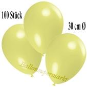Deko-Luftballons Pastellgelb, 100 Stück