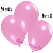 Deko-Luftballons Rosa, 50 Stück