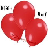 Deko-Luftballons Rot, 100 Stück