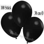 Deko-Luftballons Schwarz, 100 Stück
