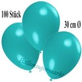Deko-Luftballons Türkis, 100 Stück