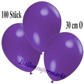 Deko-Luftballons Violett, 100 Stück